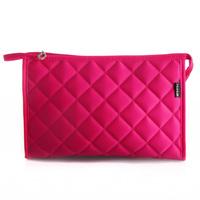 Fog flower classic plaid cosmetic bag travel cosmetic bag women's handbag