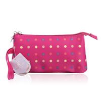 Small fog flower polka dot multicolour 3 cosmetic bag cosmetic bag multi purpose small clutch storage bag
