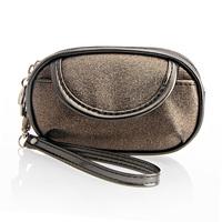 Fog flower neon fabric small clutch street coin purse double zipper small wrist bag