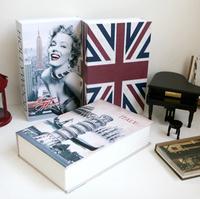 Decoration self safe Book Money Saving box Safe Security Book Dictionary Cash Money Bank Box Locker & Key Promotion Gift Small