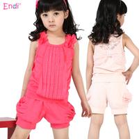 Short-sleeve female child set summer girls clothing 2013 child spring children's clothing sports summer