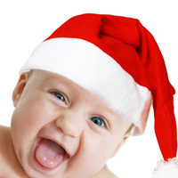 2013 New models Christmas hat santa claus hat baby christmas child Christmas cap A pack of 10 A \ Free Delivery