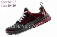 Shipping! High Quality 2012 authentic mesh presto Unisex sports shoes Casual shoes,10 colors with sign mix order,EUR:36-46