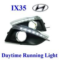 Top Quality ! IX35 Hyundai 2011 2012 Daytime Running Light LED Daylight DRL Auto Car DRL Fog Lamp 2pc Free Ship By HK Post