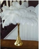 2013 Wholesale-6-8inch 15-20cm 100pcs/lot Ostrich Feather Wedding Decoration L1-0167