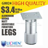 Round Aluminium alloy legs Height 18cm adjustable furniture Legs&Cabinet Legs(4 pieces/lot) LICHEN sofa feet B0024-180