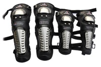The new titanium alloy gear knee elbow pads four-piece knight motorcycle protective armor