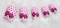 Free Shipping more style 3D Crystal fake nails patch set  most fashionable new style nail tips