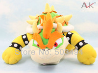 "free shipping 1pc Super Mario plush toys 10"" int Koopa Bowser dragon plush doll Brothers Bowser soft Plush"