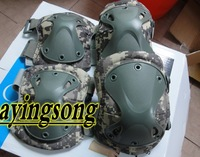 New ACU tactical knee and elbow protector pads set (2 pcs elbow and 2 pcs knee pad) ,FREE SHIPPING