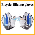 2013 Cycling Bike Bicycle Silicone half finger gloves Blue X/XL NEW