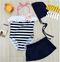 hot! 5pcs/lot Kids lace Flowers swimwear for Little Girls halter Swimsuit beachwear free shippng