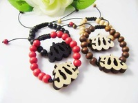 Hip-hop Style Rose Hemu Beads Allah Bracelet, Good Wood,Best Gift GW-031