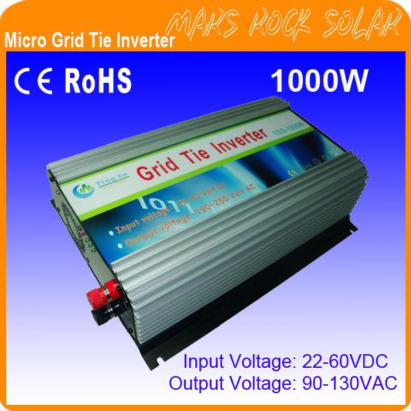 Инверторы и Преобразователи MARSROCK 1000W DC22V 60V, 90v/130v, 50 60 1200W GTI1000W