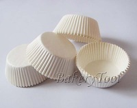 FDA approved Free Shipping 400pcs Plain/Solid White cupcake liners baking cups cupcake cases Muffin Cup paper Cake Cases