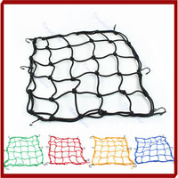 Free Shipping Motorbike Motorcycle 6 Hook Hold Down Helmet Cargo Luggage Mesh Net Bungee 5 Colors