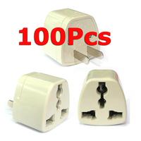 ( 100 pcs/lot ) Universal AU UK EU To US 2-Prong AC Travel Power Plug Outlet Converter Adapter