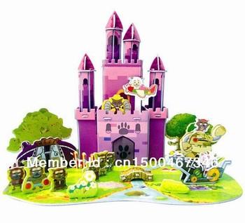 3D Wolf Castle puzzles ,zhuote puzzles