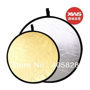 32'' 80cm 2 IN 1 Photo Collapsible Light Round Photography Reflector KIT For Studio or Outdoor flash Free Shipping(China (Mainland))