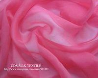 Pink 100% Silk Fabric Crinkle Clothes Textile Metrial Per meter Soft handfeel Fabric