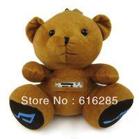Plush Toy Speaker FM Radio Mini Speaker for MP3 MP4 Mobile Phone PC Laptop U Disk SD Card-Teddy bear