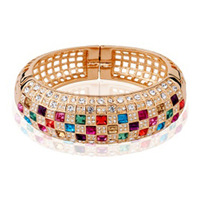crystal zircon bangle cuff bracelets #tob130503 zirconium woman Mona lisa accessories fashion luxury birthday gift banquet queen