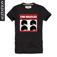 Agitation2013 100% T-shirt cotton short-sleeve o-neck t-shirt beatles beetle beatles