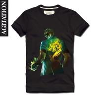 Agitation 2013 men's clothing 100% short-sleeve cotton round neck t-shirt T-shirt lol