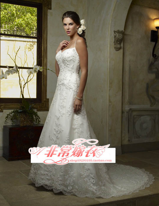 New arrival 2012 bride wedding train wedding dress professional wedding dress(China (Mainland))