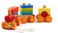 Super toy child shape train blocks