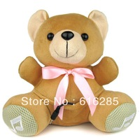 Doll Speaker FM Radio Mini Speaker for MP3 MP4 Mobile Phone PC Laptop U Disk SD Card-Tie bear
