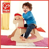 Hape toy trojan yakuchinone 0-1 year old baby small wood rocking horse hot-selling