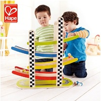 Hape trochlear toy 1 - 2 years old model wooden puzzle boy gift