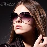 2013 big box polarized sun glasses Women all-match large sunglasses elegant