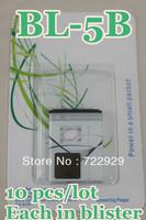 Original BL-5B Mobile Phone Battery for Nokia 3220 3230 5070 5140i 5200 5208 5300 5320diXM5500 6020 6021 Free Tracking