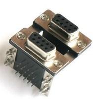 Connector db9 double layer db9 9 lock screw