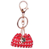 Free Shipping Latest Colorful Rhinestone Metal Keychain For Bags Jewelry  B122110