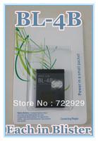 Original BL-4B Cellphone Battery for Nokia 2505 2630 2660 6111 7370 7373 7500 N76 B0317 N75 Free Tracking