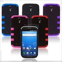 Free shipping,3 in 1 Front and Back PC + Silicone Case Cover for SAMSUNG Galaxy S4/ i9500   P-SAMI9500HCSO015