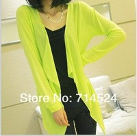 Free Shipping,11colors , free size ,2013 New  Fashiong Casual Air Conditioning  Thin Summer Knitted Coat Women