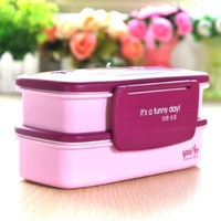 2014 Hot  Bento Box Lunch box 20.5*10.3*9.7CM Free shipping