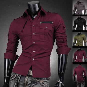 Jeansian модной мужской с длинным рукавом модное платье Casaul стильная рубашка T бесплатная доставка sml XL XXL 8371