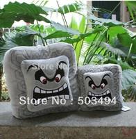 "Free Shipping Cute Super Mario Bros Plush Soft Toys Cushion Pillow Thwomp Dossun 13"" New Wholesale And Retail"