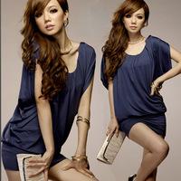 2014 Free shipping New Fashion Womens Lady's Spring Dresses Slim Fit Classic Hot Mini Dress JMS-029