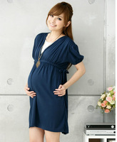 2013 summer new arrival  maternity dress ,casual one-piece cotton dress for pregnant women free shipping