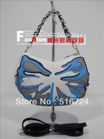 Free shipping Black eyes women's handbag canvas bag chain small bags mobile phone bag white