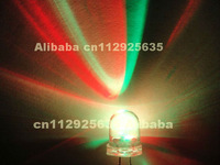 500PCS Color changing LED 10MM RGB LED 3.0-3.5V automatic flashing dip led(CE&Rosh)