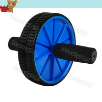 New Dual Abs Abdominal Roller Wheel Exerciser Workout Roller Exercise  Fitness Equipment  Free Shipping 11947