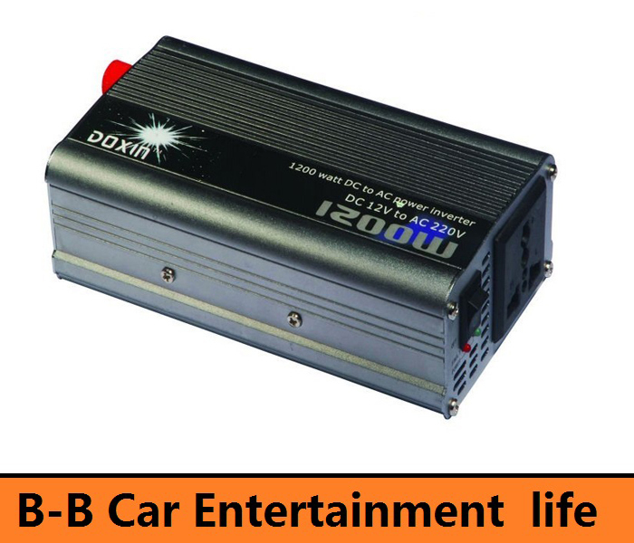 DOXIN 1200W 1200 WATT Modified Sine Wave Car 12V DC In 220V AC Out USB Power Inverter(China (Mainland))