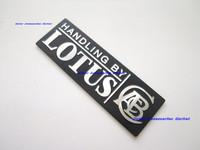 Free Shipping, 2Pcs  2X New Aluminium Metal Car Logo Emblem Badge Lotus #A31